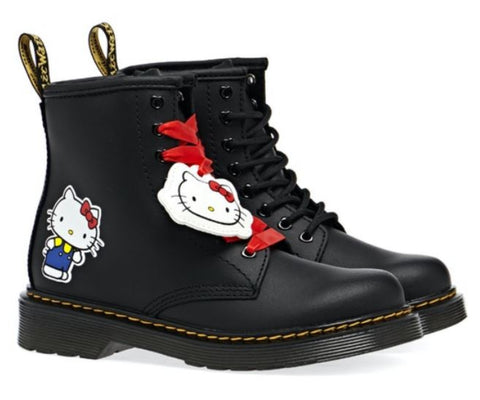 DR. MARTENS 1460 Hello Kitty Kids | Black Hydro Leather