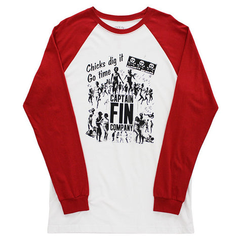 CAPTAIN FIN Chicks Dig It Long Sleve Tee Men | White / Red (CT171079)