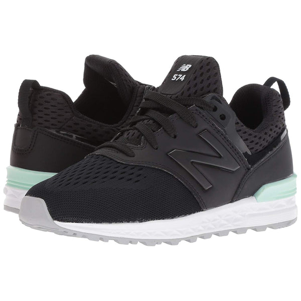 NEW BALANCE 574 Sport Kids | Black / Seafoam (GS574MB)