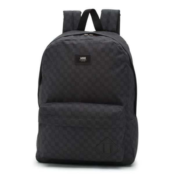 VANS Old Skool CheckerBoard Backpack Unisex | Black/Charcoal (VN0A3I6RBA5)