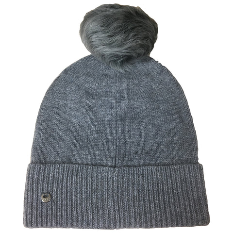 UGG Cuff Pom Beanie Women | Medium Grey Heather (15009)