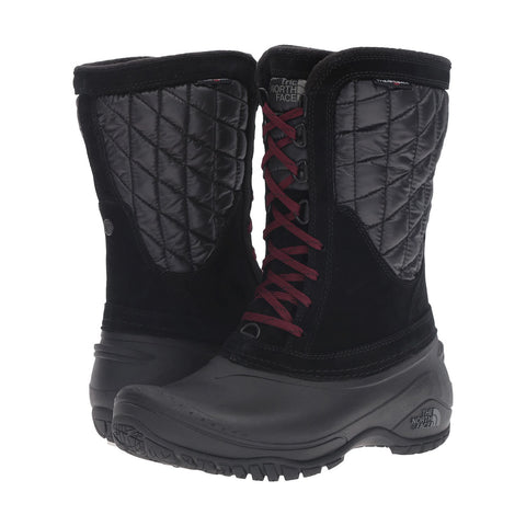 THE NORTH FACE Thermoball Utility Mid Women | TNF Black / Deep Garnet Red (NF0A2T5D)
