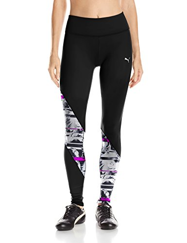 PUMA Clash Tights Women | Black / Knockout Pink / White Feather (515124-01)