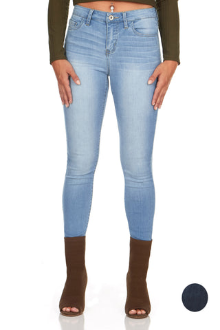 ELITE JEANS Ultra Soft Rayon Denim Skinny Jeans Women | Light Wash (P19578)