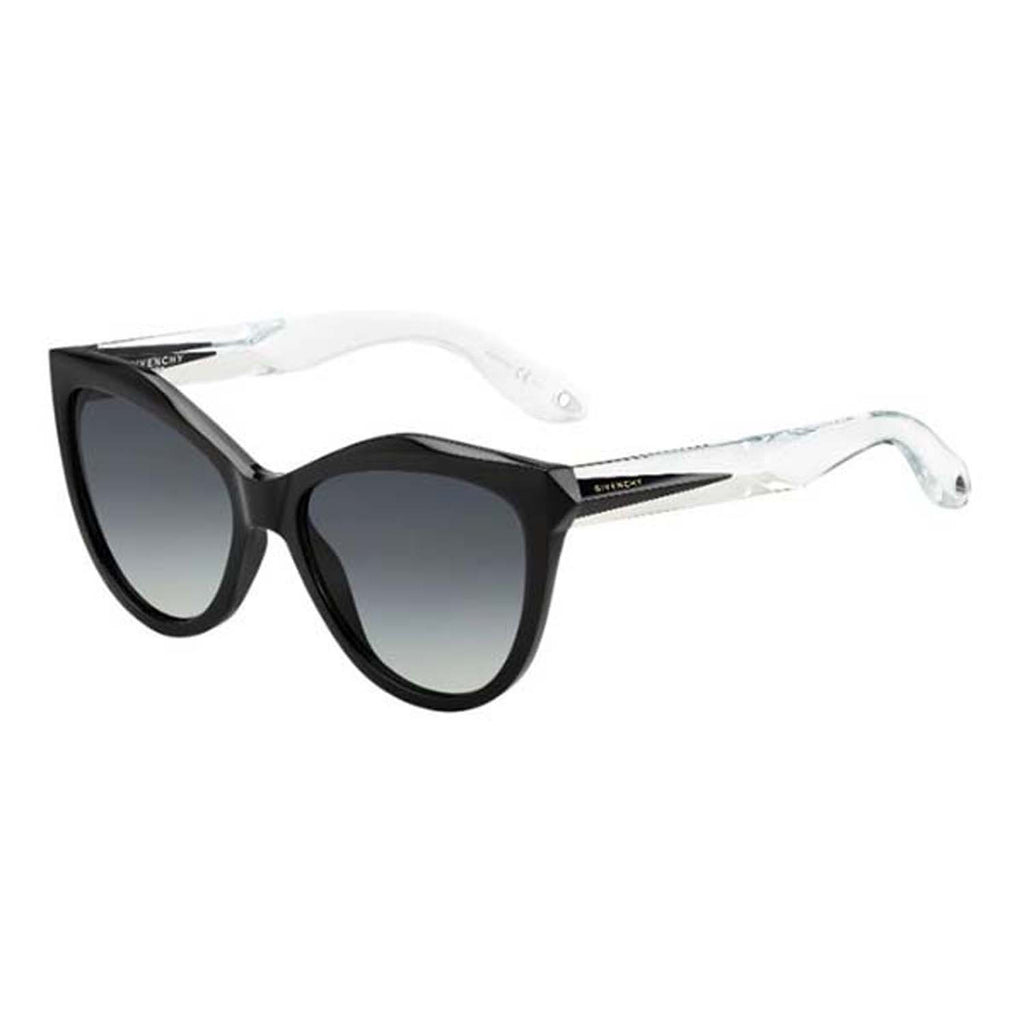 GIVENCHY 7009/S Sunglasses | Black Crystal / Grey Shaded (7009/S)