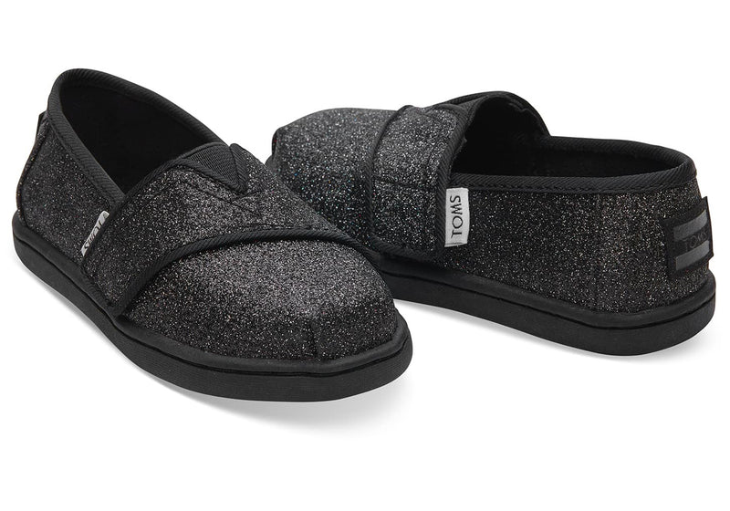 TOMS Black Iridescent Glimmer Tiny | Black (10011460)