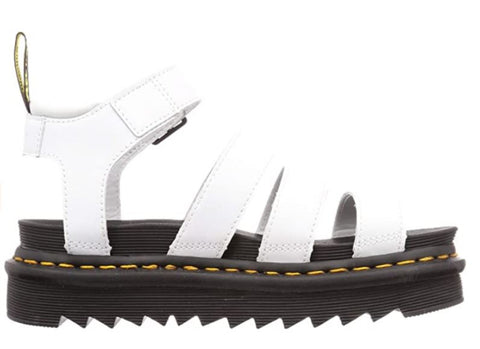 DR, MARTENS Blaire Hydro Leather Gladiator Women| White Hydro Leather