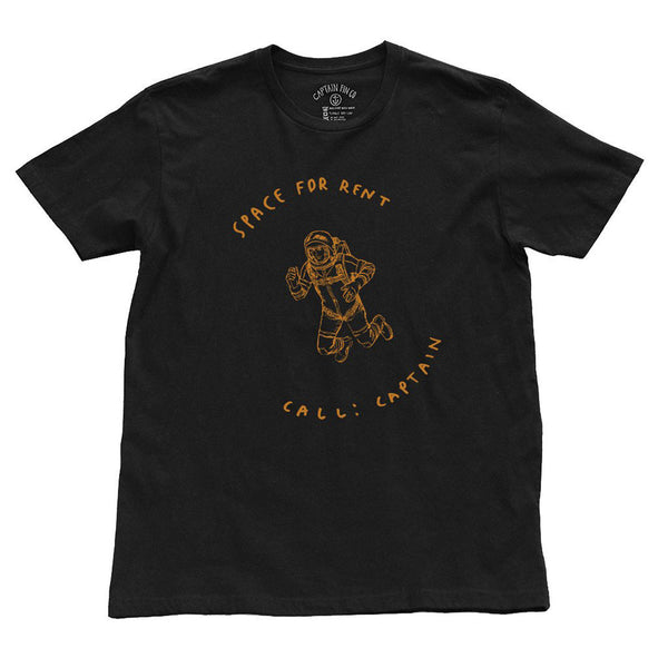 CAPTAIN FIN Space For Rent Premium T-Shirt Men | Black (CT171062)