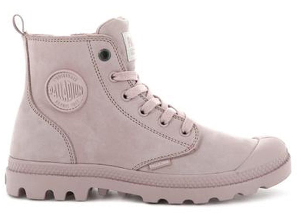 PALLADIUM Pampa Hi Zip Nubuck Women | Rose Smoke (96440-613-M)