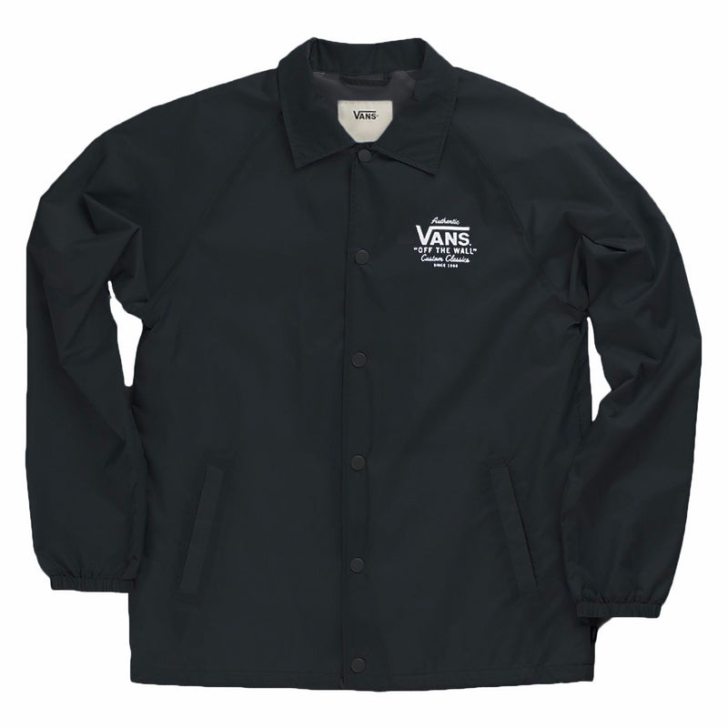 VANS Torrey Coaches Jacket Men | Black/White (VN0002MUY28)
