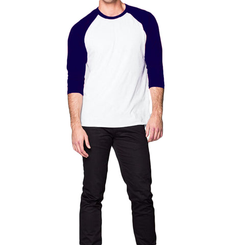THREAD SOCIETY Long Sleeve Baseball Tee Men | Navy