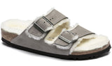 BIRKENSTOCK Arizona Shearling Women | Stone Coin (1017403)