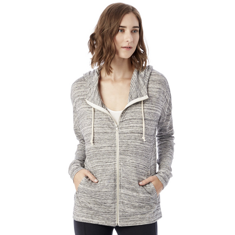 ALTERNATIVE APPAREL Cool Down Zip Hoodie Women | Urban Grey