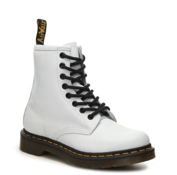 DR.MARTENS 1460 Smooth Leather Lace Up Boots Men | White Smooth