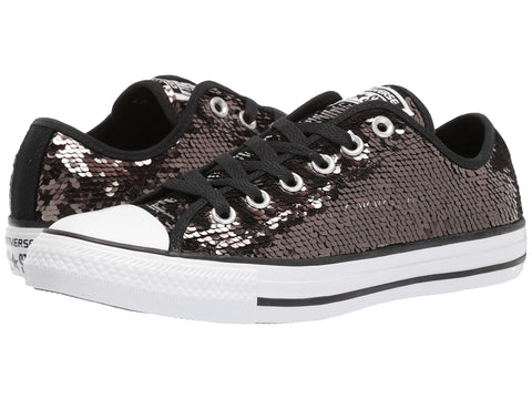 CONVERSE Chuck Taylor Sequins Ox Women | Gunmetal / White / Black (557988C)