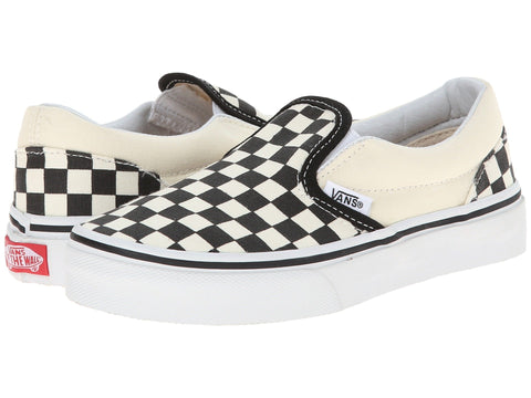 VANS Checkerboard Slip-On Kids | Black / White (ZBUEO1)
