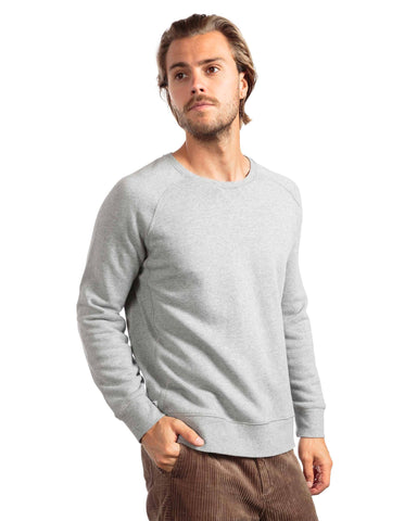 RICHER POORER Crew Sweatshirt Men | Heather Grey (MAT-SSCR02)