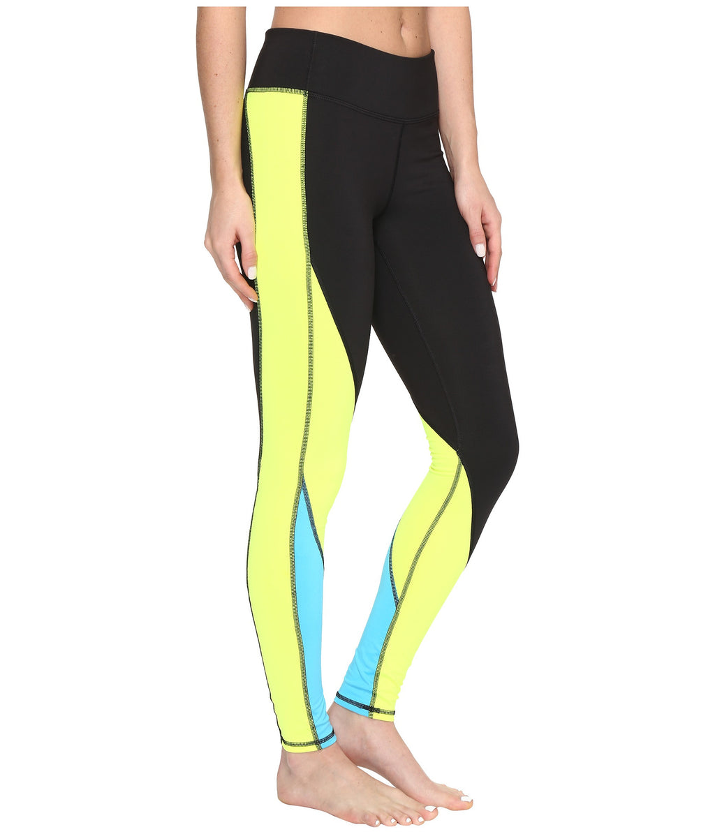 PUMA Clash Tights Women | Black / Safety Yellow (515124-04)