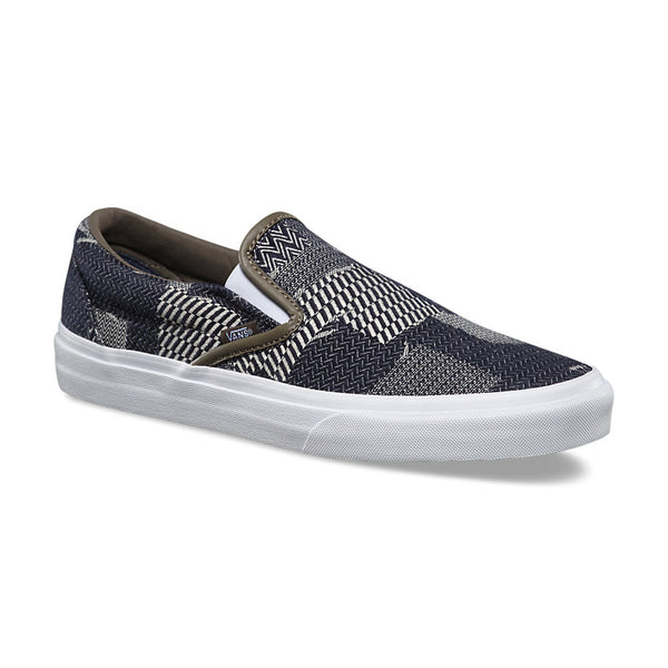 VANS Denim Patchwork Slip-On Women | Navy/True White (8F7MOY)