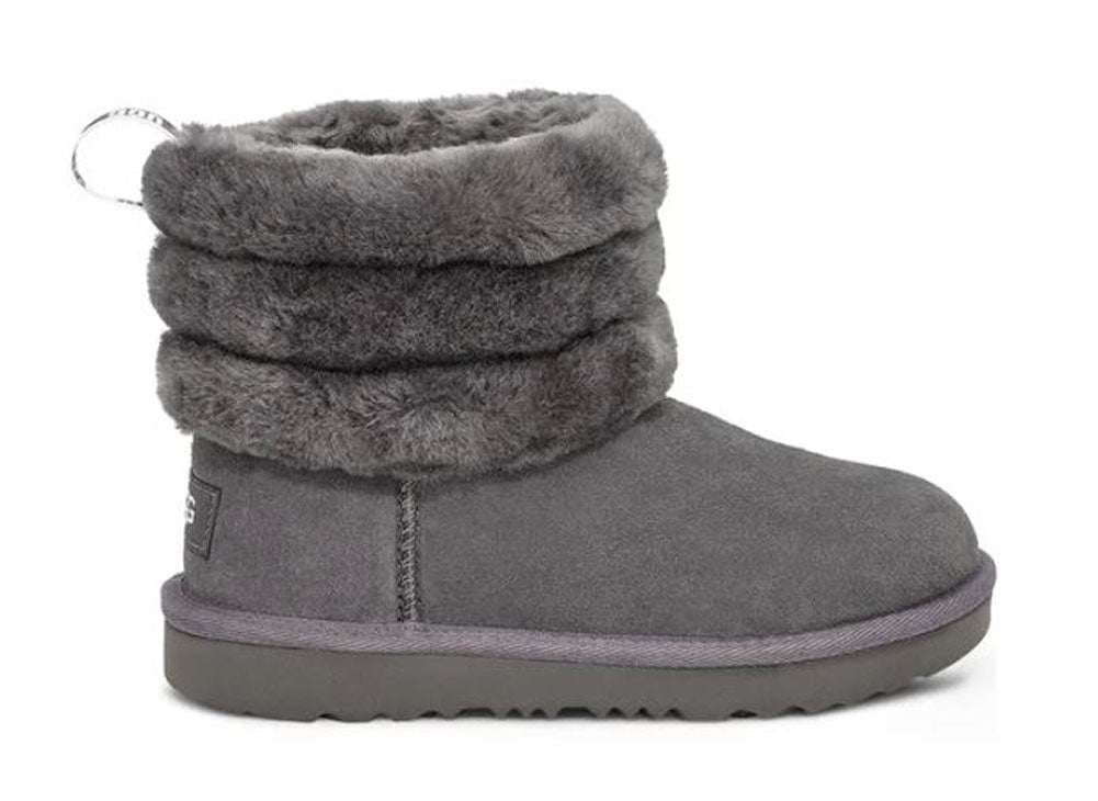 UGG Fluff Mini Quilted Kids | Charcoal (1103612K)