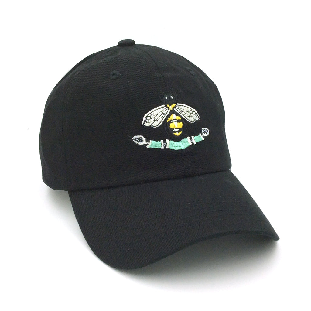 ANY MEMES Bee Snake Dad Hat | Black (P-41923)