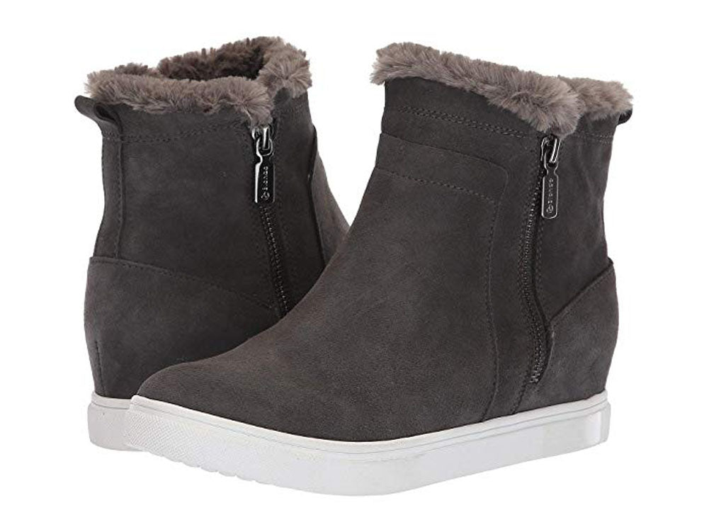 Blondo Glade Waterproof Boots Women | Dark Grey Suede (B3453)