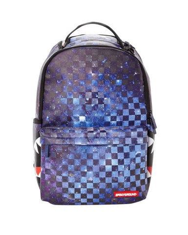 SPRAYGROUND Galaxy Checkered Side Shark Unisex | Black/Galaxy (B2288)