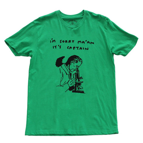 CAPTAIN FIN Sorry Ma''am Premium T-Shirt Men | Green (CT171064)