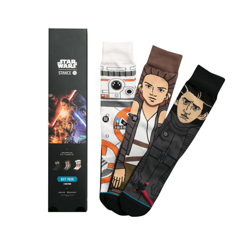 STANCE The Force Awakens Socks Gift Set Men | Black (M545D16FOA) (Large)