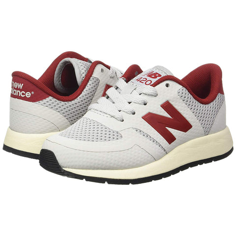 NEW BALANCE 420 Kids | Light Grey / Red (KFL420DG)