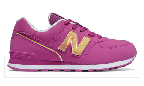 NEW BALANCE 574 Fashion Metallic Girls | Fusion/White (GC574MTP)