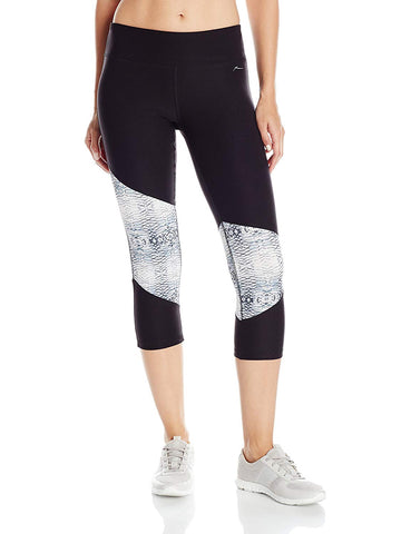 X BY GOTTEX Color Block Capri Women | Black/Snake