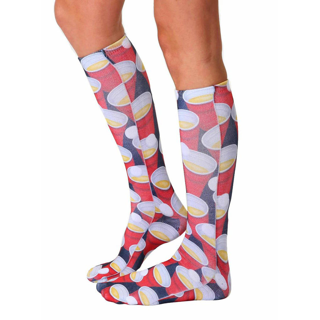 LIVING ROYAL Beer Pong Knee High Socks | Multi