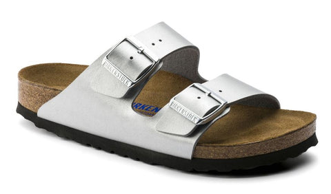 BIRKENSTOCK Arizona Birko-Flor SoftFootbed Women | Silver (550153)