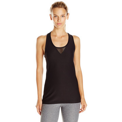 X BY GOTTEX Diamond Mesh Racer Back Tank Top Women | Black