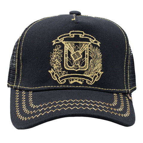 GOLD STAR Dominican Republic Trucker Hat | Black