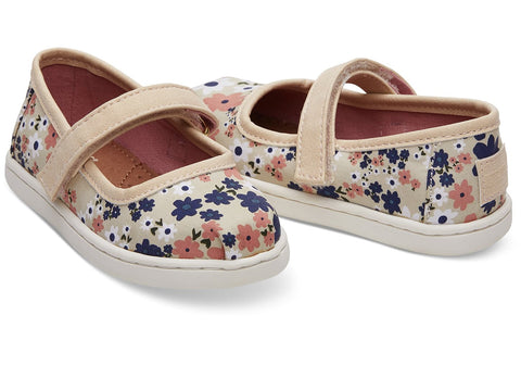 TOMS Retro Floral Mary Jane Tiny | Birch (10012558)