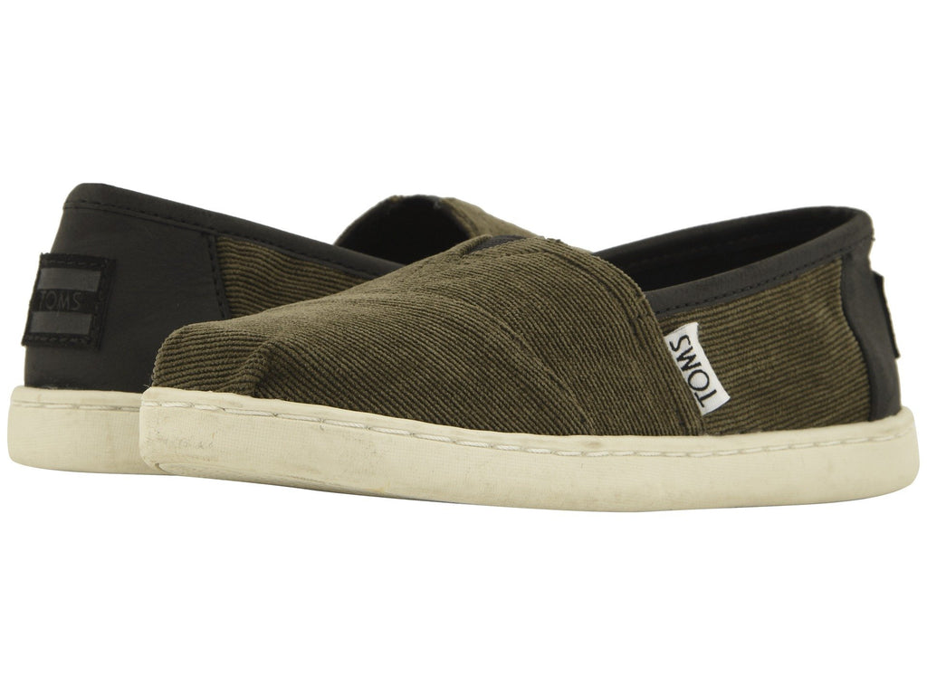 TOMS Micro Cordury / Synthetic Leather Original Youth | Tarmac Olive (10012703)