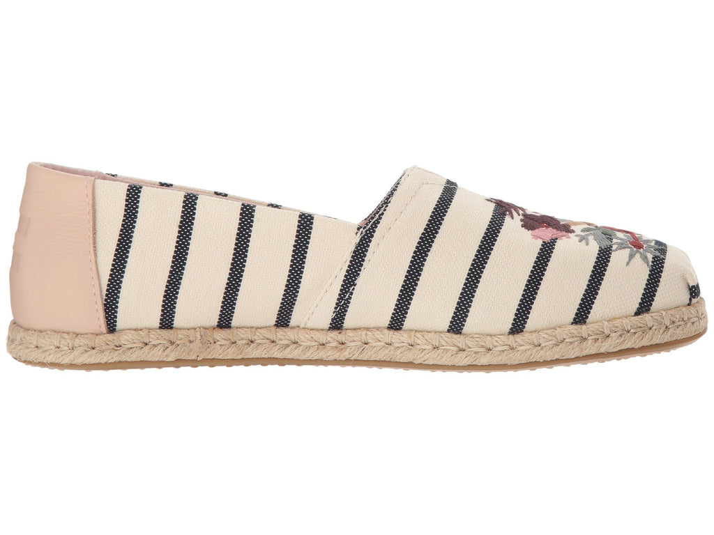 TOMS Woven Stripe Original Women | Floral Embroidery (10012638)