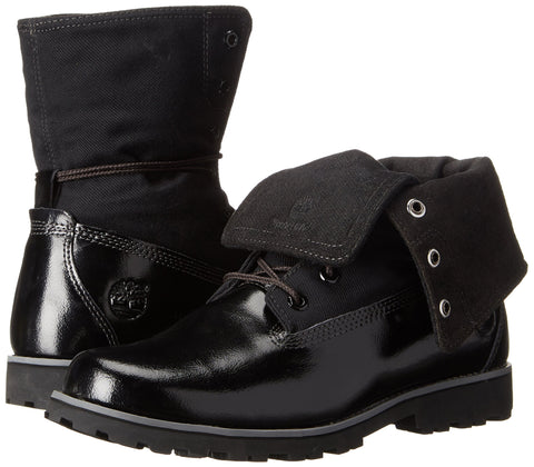 TIMBERLAND Authentic Folddown Youth | Black Shine (TB0A154R)