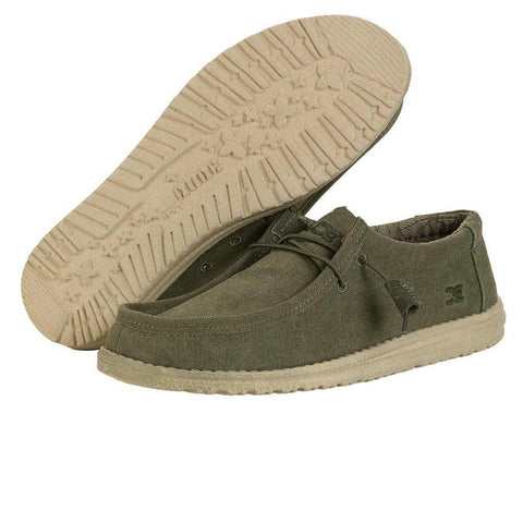 HEY DUDE Wally Canvas Men | Army (11098005)
