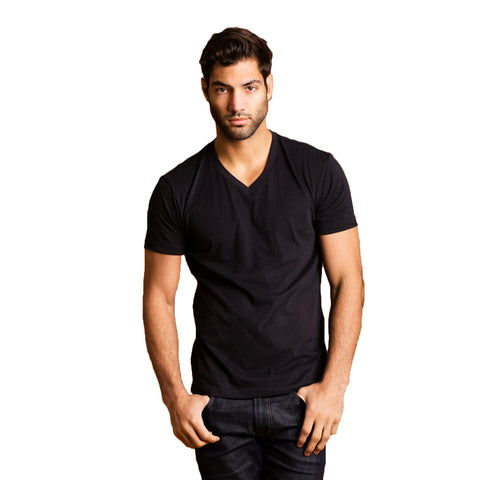 THREAD SOCIETY Premium V Neck T-Shirt Men | Black