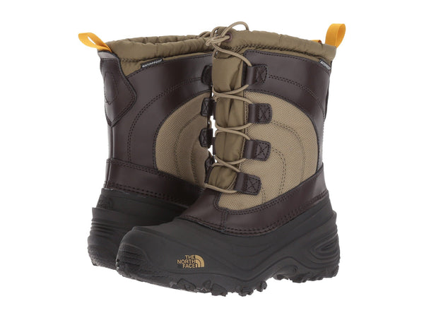 THE NORTH FACE Alpenglow IV Youth | Burnt Olive Green / Arrowwood Yellow (NF0A2T5PWFZ)