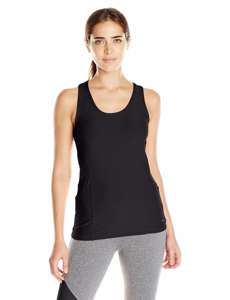 X BY GOTTEX Color Block Racer Back Tank Top Women | Black