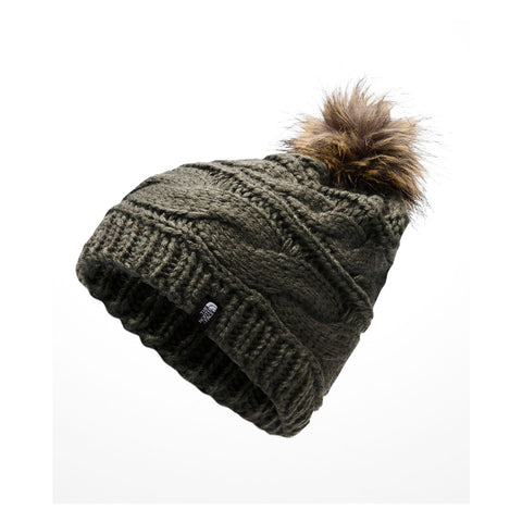 THE NORTH FACE Triple Cable Fur Pom | New Taupe Green (CJ6Q)