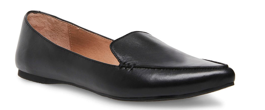 Steve Madden Feather Black Leather Women | Black (Feather)