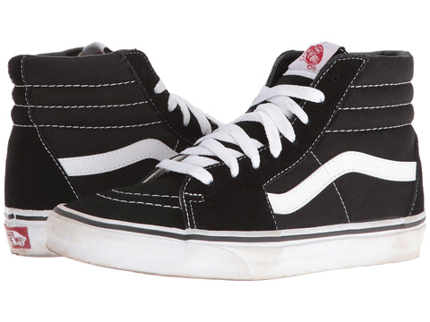 VANS Sk8-Hi Men | Black / Black / White (D5IB8C)