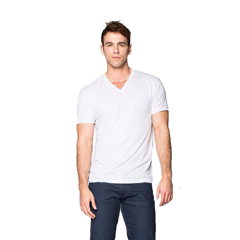 THREAD SOCIETY Comfy V Neck T-Shirt Men | White