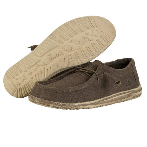 HEY DUDE Wally Canvas Men | Chocolate (111091900)