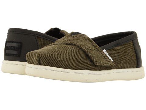 TOMS Micro Corduroy / Synthetic Leather Original Tiny | Tarmac Olive (10012585)